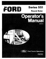 New Holland 551 Baler Operators Manual