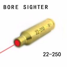 NEW Laser Bore Sighter .22-250 Rifle Shooting Cartridge Red Dot Boresighter