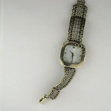 Noa Zuman Sterling Silver 925 Link Band Heart Quartz Watch Parts Not Working