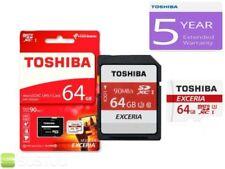 Tarjetas de memoria Toshiba para cámaras de vídeo y fotográficas para 64 GB