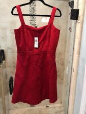 INC Dress Sleeveless Fit Flare Chinese Red Skirt Womens Large L New
