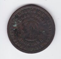 Token 1 Penny Morrin & Co Auckland New Zealand circa 1858 Wine Spirit Merchant