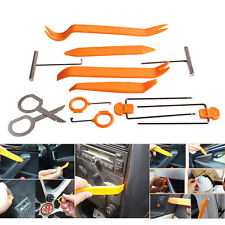 12pcs Plastic Car Door Clip Panel Trim Dash Radio Audio Removal Pry Tool Kit