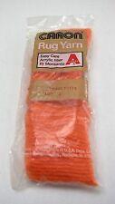 Caron Pre Cut Rug Yarn - Latch Hook Rugs - 1 Sealed Package - Orange #0113-5