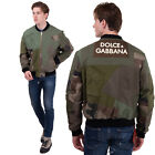 RRP2900 DOLCE & GABBANA Bomber Jacket Size 58 / 3XL Patchwork Vintage Look Camo