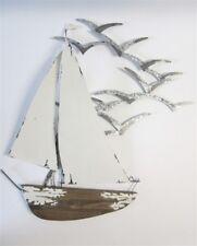 Yacht with Seagulls Large Metal Nautical Coastal Wall Art 4278