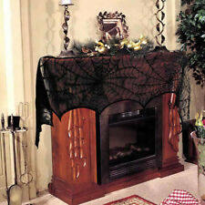 Halloween Spiderweb Cobweb Fireplace Scarf Lace Mantle Cover Party Decorations