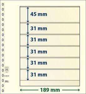 Lindner T-Blanko-Blätter mit 6 Taschen im 10er Pack  Art.-Nr. 802 602