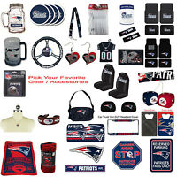 New NFL New England Patriots Pick Your Gear / Accessories Official Licensed
