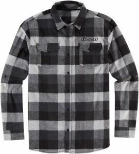 Icon FELLER Flannel Shirt (Black/Gray) SM (Small)