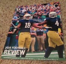 NOTRE DAME FOOTBALL 2016 FOOTBALL REVIEW GUIDE NEW