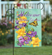 Toland Frolic in the Flowers Welcome to Hershey Gardens 12.5 x 18 Garden Flag