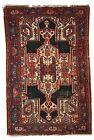 Handmade antique Oriental rug 3.9' x 5.9' ( 120cm x 180cm ) 1920s - 1C321