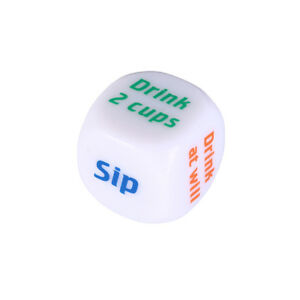 white drinking wine english dice adult game toys bar party pub drink fun to_cd