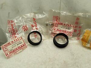 NOS New OEM Kawasaki Front Fork Dust Shield Set (X2) KX250 KX125 KLX250 KDX175