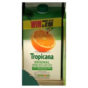 Tropicana Original Orange Fruit Juice w/ Juicy Bits 1.4Lx6 100% Pure Pressed