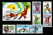 Vietnam 1990 Figure Skating / winter sport full stamp set + S/S perf cto used