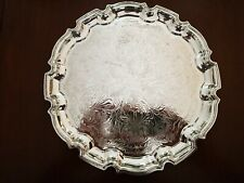 Vintage Silver Plated Gadrooned Edge Salver