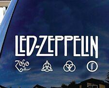 "Led Zeppelin British Rock Band Album Logo  Car Truck Decal sticker 9"" WHite"