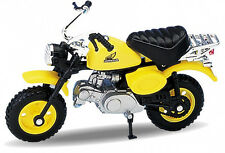 BLITZ VERSAND Honda Monkey gelb / yellow Motorrad Modell Welly 1:18 NEU & OVP
