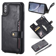 Wallet Case For iPhone X XS Max XR 8 7 6 5 Magnetic Flip Leather Cover Card Slot