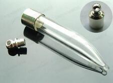 10pcs CHILLI GLASS VIALS bottles SCREW bottle TOOTH CHARMS teeth vial PENDANTS