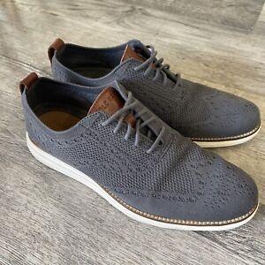Cole Haan Grand OS Original Stitchlite Wingtip Oxford Shoes Men's Sz 14 Gray