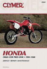Honda CR Repair Motorcycle Manuals and Literature