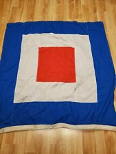 Naval Canvas Signal Flag letter W