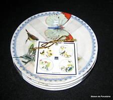 222 Fifth SUMMERVILLE Appetizer Plates Botanical Birds