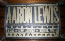 AARON LEWIS Ryman HATCH SHOW PRINT Nashville 2017 Sinner Tour Poster STAIND