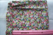 Vtg Antique 1940's Cotton Floral Quilt Doll Sewing Fabric 3 yards +