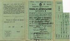 """PUBBLICITA' Werbung 1941 """" FERROVIE DELLO STATO : TESS.DI AUTORIZ.NE CATEG. A """""""