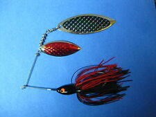 3/4 oz Spinnerbait ( Black/Red ) T34oz-9155