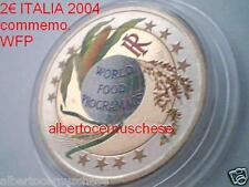 2 euro 2004 ITALIA color farbe WFP World Food italie italien italy Italië Италия