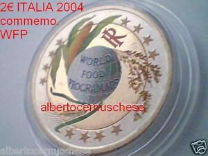 2 euro 2004 ITALIA color farbe couleur WFP cor kleur italie italien italy Italië