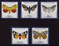 Germany 1992 Youth Welfare - Moths SG 2449-2453 MNH