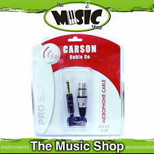 New Carson Pro 30ft XLR to Jack Microphone Cable - Cannon to Jack Lead CAM30H