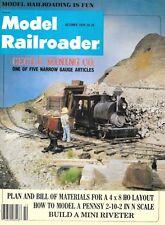 Model Railroader Oc 1979 Narrow Gauge Mining 4x8 HO Layout Pennsy 2-10-2 N Scale