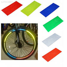 A37F Fluorescent Bike Motorcycle Tyre Rim Reflective Stickers Security Silver