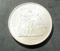 1976 France - Silver 50 Francs (Hercules) - Paris Mint - 0.90 Silver 30.0g