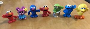 2013 Sesame Street Workshop Plastic Figures Elmo Oscar Grover Cookie Abby Bird
