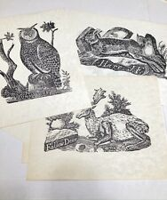 Jonathan Fisher Animal Prints Limited Deluxe Edition 1967 SET Of SIX Prints