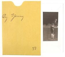 """1901-07 Cy Young, Boston Red Sox, Photo Negative 1.5"""" x 2.75"""""""
