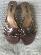"Bandolino Brown Sandals 1 1/2"" heel Bd Dare Me - Size 8M"
