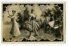 c 1907  Music Hall Cabaret Dancer ELLEN BOXONE Costume theater photo postcard