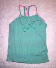 Girls Ivivva Lululemon Razorback Tank Top Size 10 Turquoise Pink