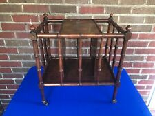 BAKER FAUX BAMBOO CANTERBURY MAGAZINE STAND RACK HOLLYWOOD REGENCY