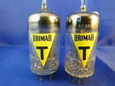 Matched Pair 6057/CV4004/E83CC/ECC83 Brimar-YELLOW # NOS # MILITARY (9611)