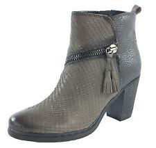 NEU Marco Tozzi Leder Boots Stiefelette grey antic comb *7147